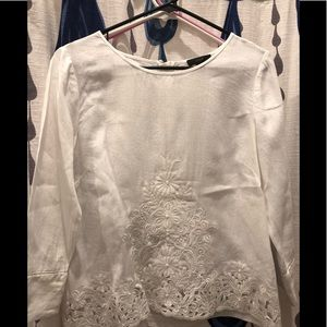 J crew - size 8 blouse with exposed zipper